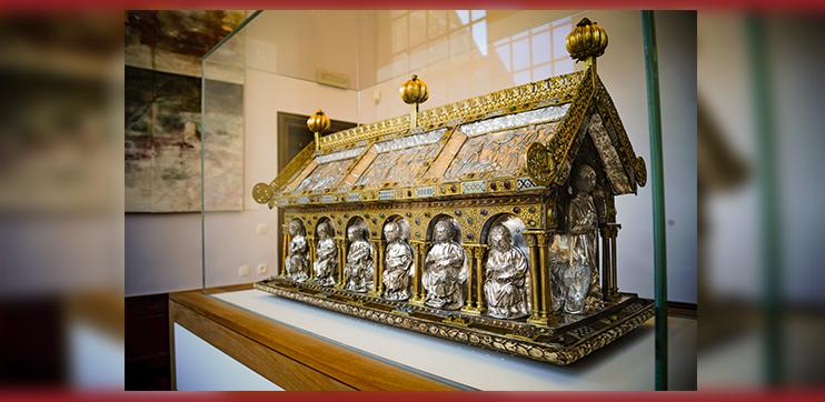 Mise en valeur de la Châsse de Sainte Ode et Saint Georges